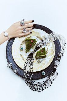 Nato Welton shoots 'Diamond Dining' jewellery and beauty story for Mine Magazine London