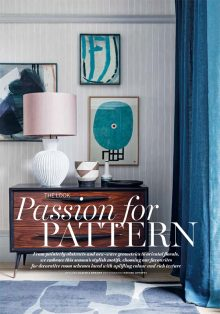 Davide Lovatti shoots 'Passion for Pattern' story for Homes & Gardens February 2018 issue