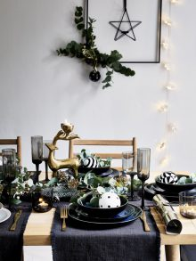 Polly Wreford and Elkie Brown shoot the Christmas Home '18 collection for Debenhams