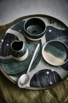 Nato Welton shoots authentic and highly desirable hand-made artisan tableware for Modern Rustic Issue 13