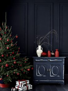 Polly Wreford shot dark toned Christmas scenes for Annie Sloan paints